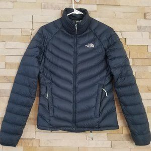North Face Womens XS Down Puffer Jacket Coat Green